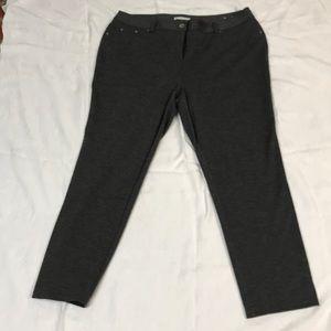 Grey ponte pants.